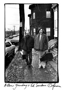 photo of Allen Ginsberg and Ed Sanders