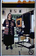 Elsa Dorfman Self Portrait with Polaroid 20x24